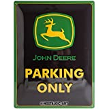 Nostalgic-ArtJohn Deere Parking Only - Gift idea for tractor fansRetro Tin SignMetal PlaqueVintage design for wall decoratio