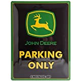 Nostalgic-Art 23117 John Deere - Parking Only, Blechschild 30x40 cm