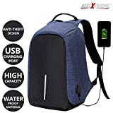 #8: AllExtreme Anti Theft Backpack Waterproof Business Laptop Bag with USB Charging Port for 14 inch Laptop, Notebook, Camera and Mobile (Blue)