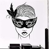 Bomdow Fototapete Karnevalsmaske Maskerade Mädchen Vinyl Decal55X71 Cm