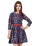 La Attire Purple Printed Crape Dress for...