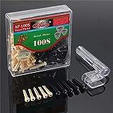Nuofake 100pcs Kit di Riparazione della Chitarra del Ponticello della Stringa Pin Cono Winder con la Scatola Guardia