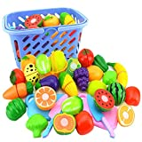#10: Inditake 23Pcs/Set Plastic Fruit Vegetables Cutting Toy Early Development and Education Toy for Baby - Color Random