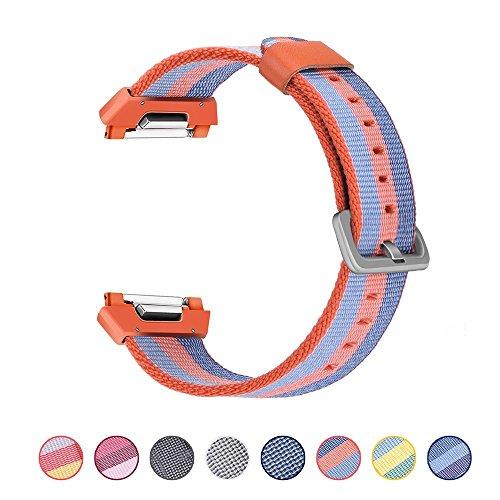 BarRan reg; Fitbit Ionic Armband, gewebtes Nylon Sport Band Ersatz Zubehör-Armband mit klassischen Schnalle für Fitbit Ionic