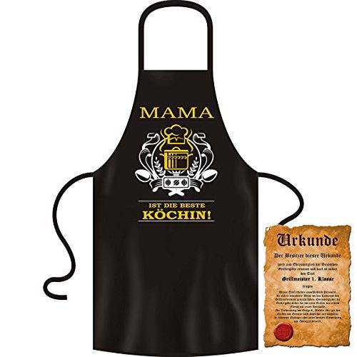 MAMA ist die beste Köchin! - Geburtstag Set Grillschürze mit Besitz-Urkunde