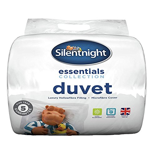 Silentnight Essentials Collection - Piumino da 15 Tog, Policotone, bianco, Singolo (135 × 200 cm)