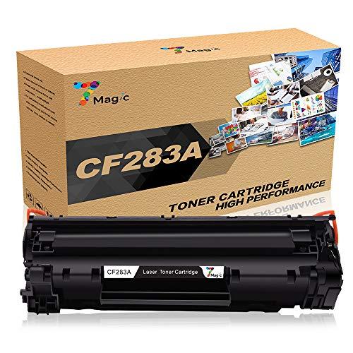7Magic Kompatibel HP 83A CF283A Toner Patronen für HP Laserjet Pro MFP M225DW M225DN M125NW M125A M127FW M127FN M201DW M201N M220 Drucker (1 Schwarz) (M125a Hp-drucker)