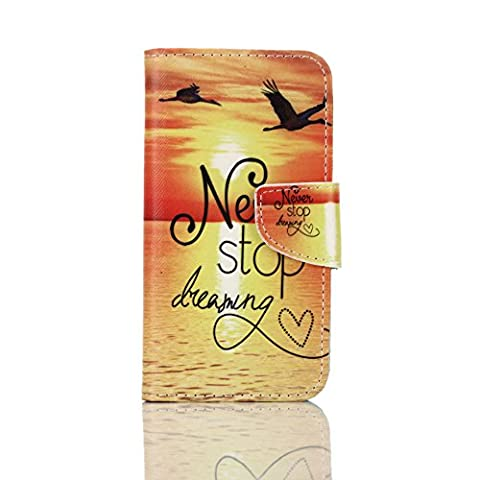 Coffeetreehouse Samsung Galaxy S7 High Quality Colorful Painting PU Leather Notebook Design Flip Cover with [Built Stand] [Magnetic Closure] [Credit Card Holder Slots] and [Wallet Function] Cute Fanny Protective Cover(Sunset seaside)