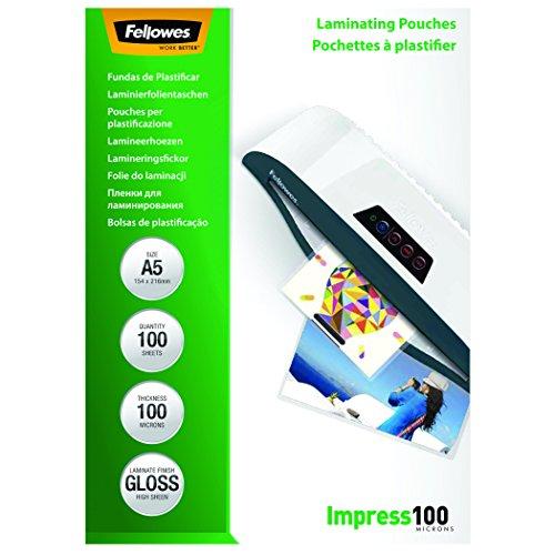 fellowes-5351002-pack-de-100-fundas-para-plastificar-a5-acabado-brillo-100-micras