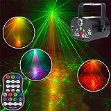 HLDUYIN Luci da Festa Disco da Palcoscenico Flash Light Attivazione Audio Proiettore A LED per Natale Decorazioni di Halloween Regalo Compleanno Matrimonio Karaoke Bar KTV