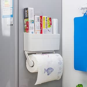 Magnetic Tissue Paper Roll Holder Storage Rack - Load Capacity Up ...