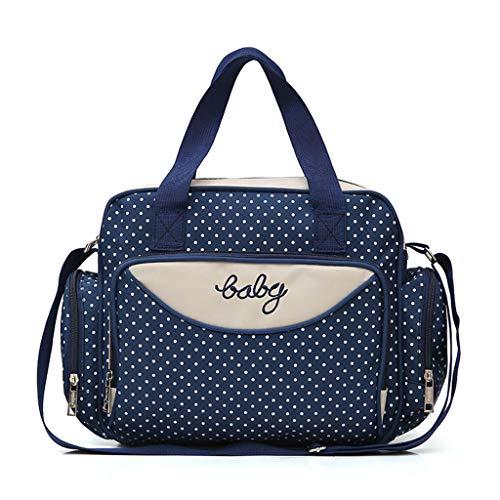 FOANA Damen Handtaschen Schultertasche Geldbörse Kartenhalter Tasche Set 4pc (Dunkelblau)