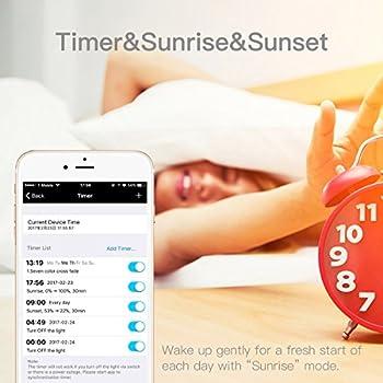 Magichue Neu Farbige Leuchtmittel Sunset Smart Led Bluetooth Lampe Dimmbar Sonnenuntergang E27 Und E26 16 Mio Farben Fuer Android Und Ios (6w Farben Lampe+3w Speaker) 4