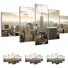 Bilder 200 x 100 cm - New York Bild - Vlies Leinwand - Kunstdrucke -Wandbild - XXL Format – mehrere Farben und Größen im Shop - Fertig Aufgespannt !!! 100% MADE IN GERMANY !!! - NY – Skyline 603451a