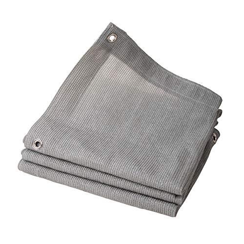 Filet d'ombrage NAN Gris argenté 90% d'ombrage Voiles d'ombrage couvertes crypté - 6 Points de Suture Voiles d'ombrage (Taille : 5×6M)