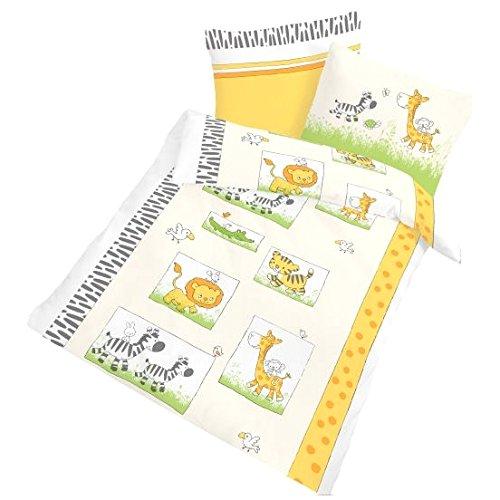 ido-27808-608-biancheria-da-letto-in-flanella-2-pz-beige-verde-per-bambini-federa-da-40-x-60-cm-e-co