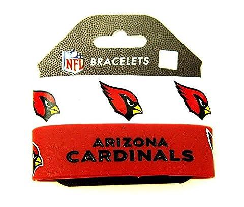 NFL Arizona Cardinals Silicone Rubber Bracelet Set, 2-Pack