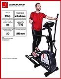 Sportstech CX630 Profi Crosstrainer Elliptical mit elliptischem Bewegungsablauf, Schwungmasse 21 KG, 4x HRC - 20 Trainingsprogramme - 24 Widerstand Stufen - Heimtrainer Ergometer Ellipsentrainer Stepper