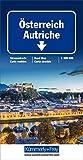 Österreich Strassenkarte: 1:500000 mit Sehenswürdigkeiten und Ortsindex (Kümmerly+Frey Strassenkarten) -