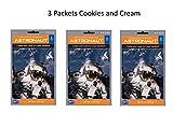 Astronaut Foods 3 Paquetes De Helado Liofilizado Sabor De Galletas Y Crema