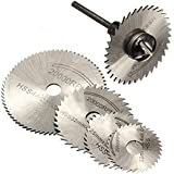 Hrph 6 Piezas hojas de sierra HSS para la herramienta rotativa de corte de metal discos de ruedas + Mandril