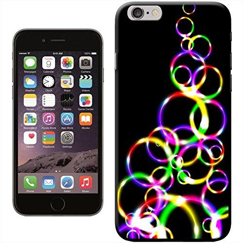 Bright Lights Coque arrière rigide détachable pour Apple iPhone modèles, plastique, Rainbow Heartbeat Chart, iPhone 5C Multi Colour Bubble Hoops