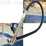 WilTec Aiguille vibrante Ø 35mm Longueur de 200 cm Arbre Flexible pour vibreur à béton électrique Manuel