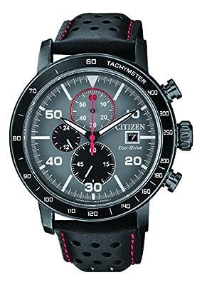 Citizen Hombre Cronógrafo Cuarzo Reloj con Pulsera de Piel ca0645–15H