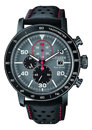 Citizen Herren Chronograph Quarz Uhr mit Leder Armband CA0645-15H