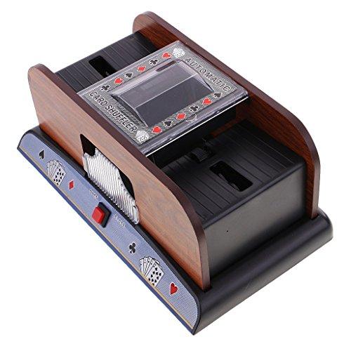 1-2 Decks Elektrische Kartenmischmaschin Mischmaschine Kartenmischer Automatisches Kartenmischgerät Kartenspiel für Poker Karte