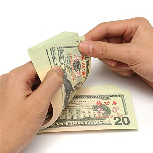Tutoy 100Pcs 20 Us-Dollar Bank Personal Lernen Training Banknote Papier Geld (Billig Film Requisiten)