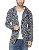 #8: Tinted Men's Cotton Blend Hooded Cardigan