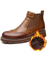 Hombres Chelsea Botas Invierno Estilo británico Brogue Bota Zapatos para Hombres Casual Martin Botas Moda Botines
