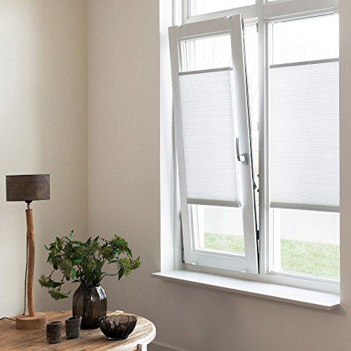 Sol Royal Plissee SolDecor P25 – 45×100 cm Grün – Klemm-Fix ohne Bohren – Plissee-Rollo Jalousie für Fenster & Türen - 8