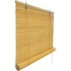 Victoria M - Persiana de bambú para interiores, color bambú, tamaño: 60 x 160 cm