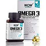 WOW Omega-3 Fish Oil Triple Strength 1000mg (550mg EPA, 350mg DHA, 100mg Other Omega 3 Fatty Acids) - 60 Capsules