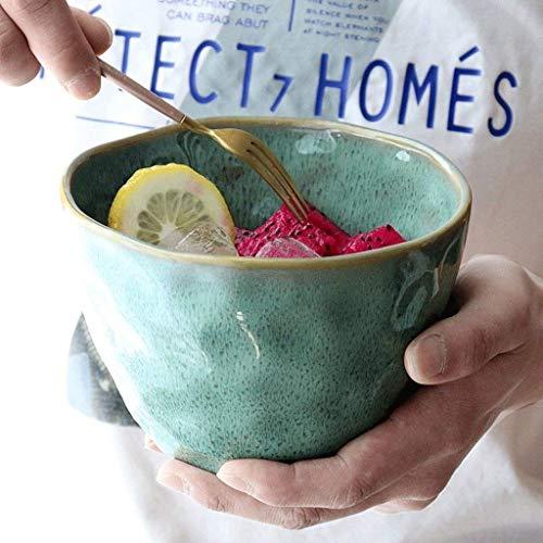 DLTCW Ciotole Verdi Creative Retro della minestra di Pollo di Pinellia dei Fiori - Ciotola di minestra Profonda delle Ciotole di Pasta di personalità delle stoviglie della Ciotola dell'insalata