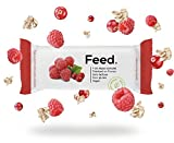 Feed. - Barre Fruits rouges - Repas complet, pratique à emporter partout - 100% Vegan - Sans Gluten - Sans lactose - Sans OGM - 100g