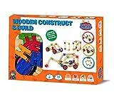Barney & Buddy BA056 Wooden Construct & Build Box Set Childs Bath Toy, Multi-Colour
