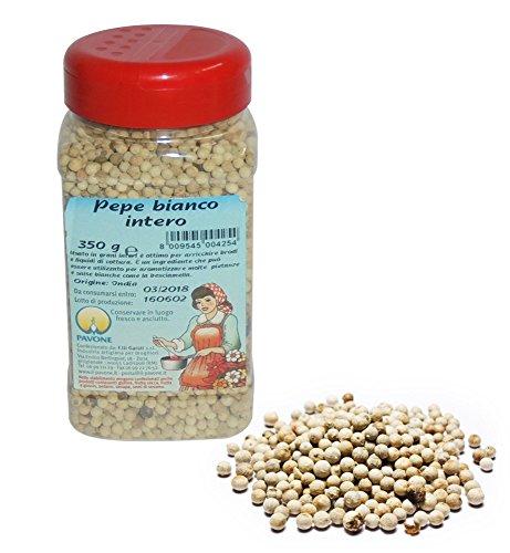 Gr 350Pimienta blanco a granos Interi (dispensador para insaporire Brodi y líquidos de cocción