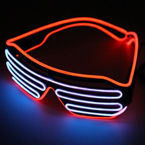 Rot und Lila heißen Draht LED Neon Licht bis Shutter geformte Gläser für Kostüm Party