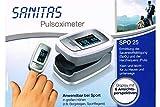 Sanitas Pulsoximeter SPO 25 - Ermittelt Sauerstoffsättigung & Herzfrequens