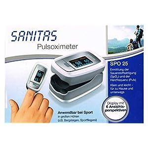 Sanitas Pulsoximeter SPO 25 – Ermittelt Sauerstoffsättigung & Herzfrequens (Puls)
