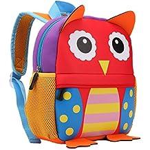 TEAMEN Kinderrucksack Animal escuela alforja mochila for niños Baby chicas bebé 2-6 edad, búho
