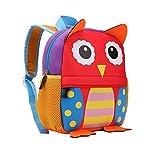 TEAMEN Kinderrucksack Animal Schule Tasche Rucksack for Kinder Baby Jungen Mädchen Kleinkind 2-6 Alter (Eule)