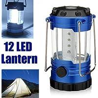 12 LED portatile campeggio escursionismo tenda lampada lanterna luce emergenza luce esterna con bussola