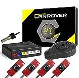 CAR ROVER Sensor Aparcamiento Kit 4 13mm Sensor Marcha Atras con Zumbador Bibi Alarma de Sonido (Negro)