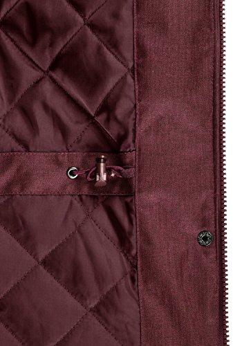 DESIRES Bella Damen Übergangsmantel Parka Jacke Mit Kapuze, Größe:XS, Farbe:Wine Red (0985) - 6