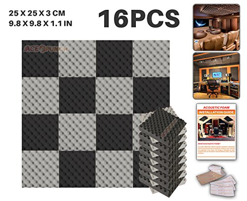 ace-punch-16-pack-2-colors-black-and-gray-egg-crate-acoustic-foam-panel-diy-design-studio-soundproof
