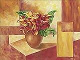 Artland Wandbilder selbstklebend aus Vliesstoff oder Vinyl-Folie Andrea Schieler Calla rot-gelb Botanik Blumen Calla Malerei Orange A1OP
